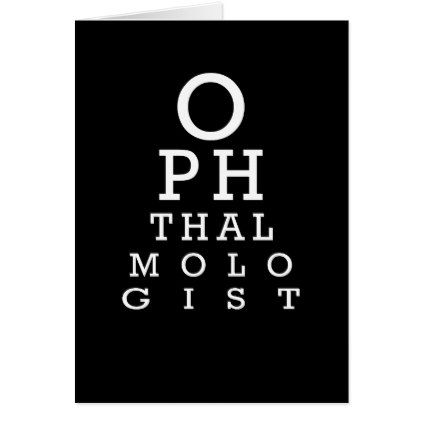 Ophthalmology Eye Chart Vision Test Card - graduation gifts giftideas idea party celebration