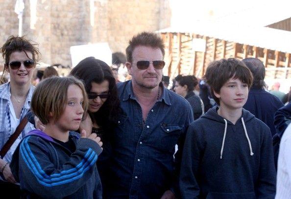 Photo of Bono & his  Son  John Hewson