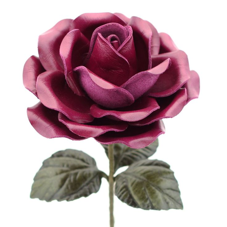 This realistic handmade purple violet leather rose will make a perfect 3rd wedding anniversary (traditional) or 9th wedding anniversary (modern) gift. Genuine leather flower is about 4.25 inches acros