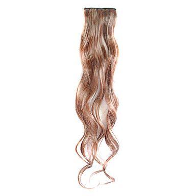 3 stuks clip in synthetisch krullend hair extensions met 2 clips - 4 kleuren beschikbaar - EUR € 4.90