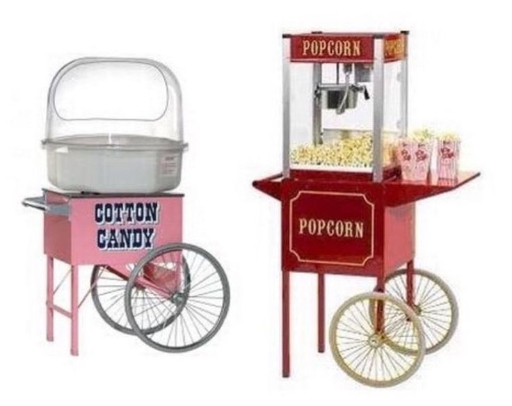 Party equipment Hire, popcorn & candy floss, slush puppy, Hot Dog Machines chocolate fountain