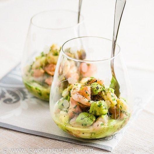 Shrimp Avocado and Red Grapefruit Appetizer | Low-Carb, So Simple