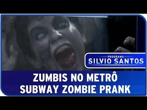 Zumbis No Metrô - Câmera Escondida SBT [Subway Zombie Prank] - YouTube