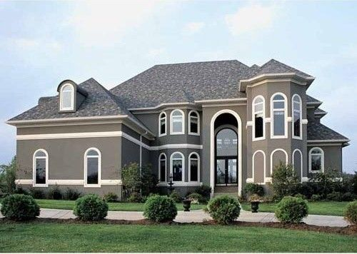Exterior Paint Color New House Paint Color Grey Stucco