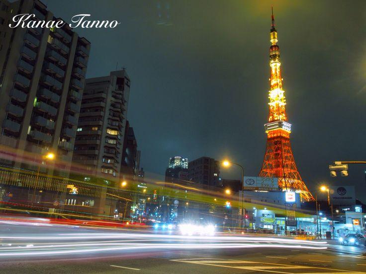 Tokyo tower&night town.