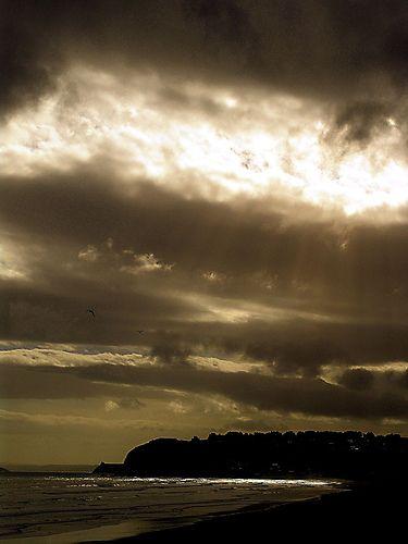 A Stormy Beach Sunset