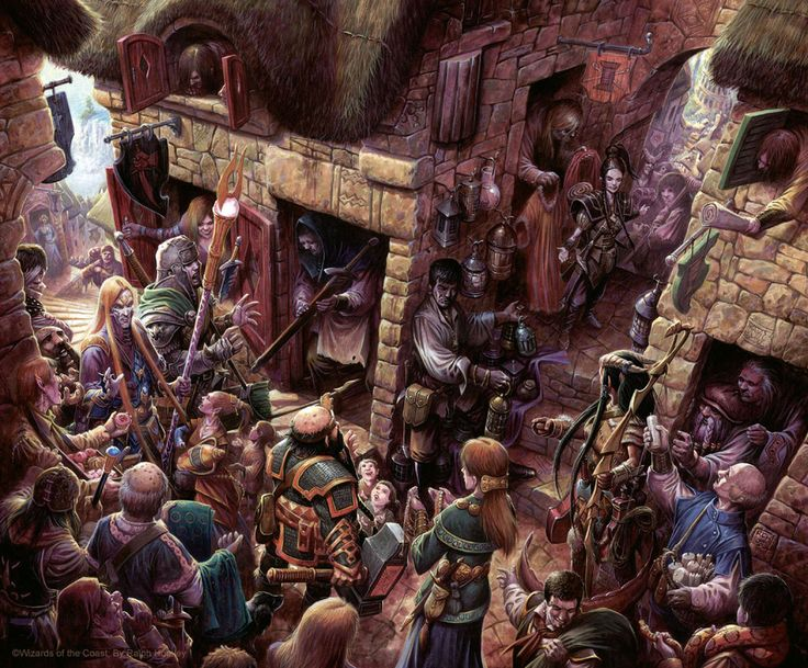 A busy day at the market by *RalphHorsley on Deviantart