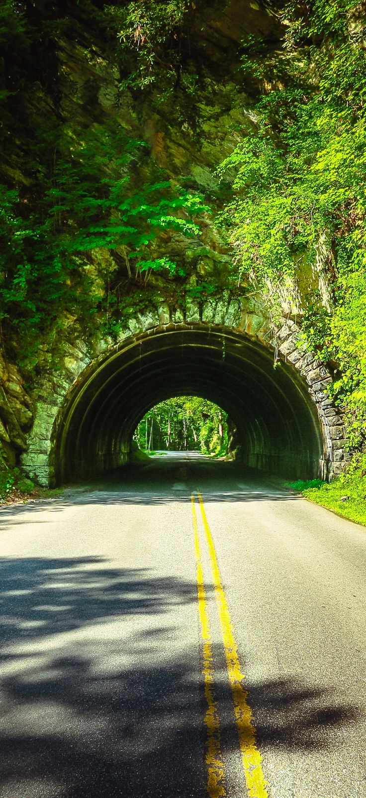 Tunnel in the Great Smoky Mountains National Park near Cades Cove.