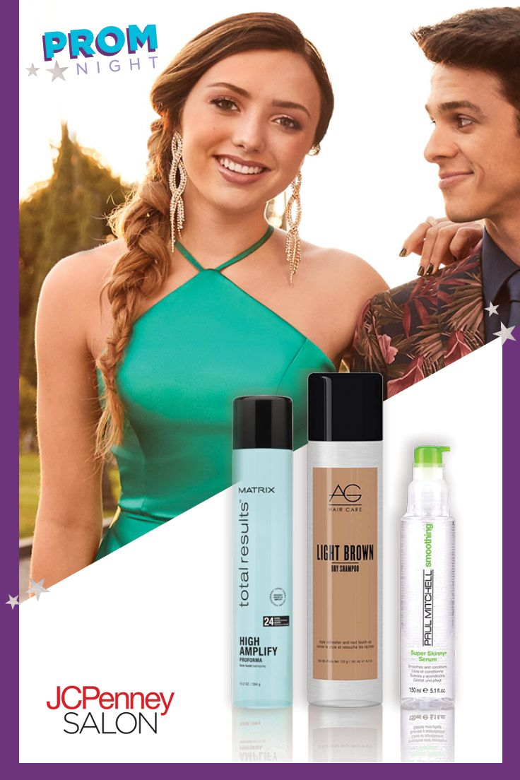 d1efc0a2ef3 JCPenney is your one-stop shop for prom! Get your affordable prom hairstyle  with the purchase of a JCPenney prom dress