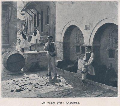 1907 -- UN VILLAGE GREC A ANDRITZENA - ebay