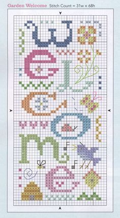 Point de croix *m@* Cross stitch