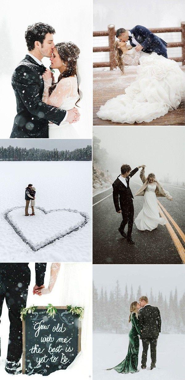 atemberaubende Winterhochzeitsfotoideen   – Wedding Ideas