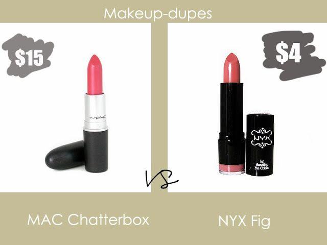 Makeup dupes #nyx #mac #lipstick