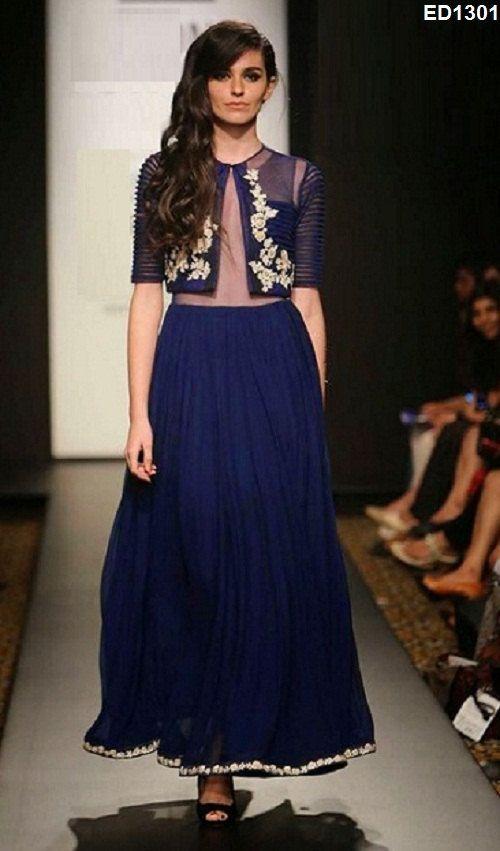 Diwali 2014 Jacket Style Lehenga Choli Incredible by Ethnicdresses