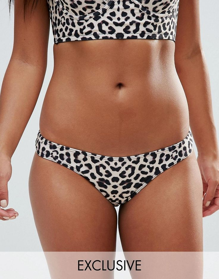 Buy it now. Wolf & Whistle Animal Print Cheeky Bikini Bottom - Multi. Bikini briefs by Wolf Whistle, Stretch swim fabric, Animal print, High-cut leg, Hand wash, 86% Polyester, 14% Elastane, Our model wears a UK 8/ EU 36/ US 4 and is 164cm/5'4.5, Exclusive to ASOS. ABOUT WOLF WHISTLE Founded in 2012, London label Wolf Whistle updates your swimwear with made-you-look prints inspired by botanicals. Prep for the ultimate poolside pairing in their bardot swimsuits, cut-out bikini sets and…