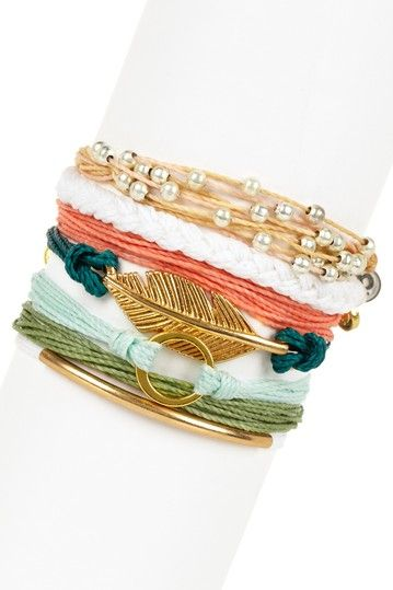 Coral Reefin' Assorted String Bracelet Set by Pura Vida on @HauteLook <-- Make this