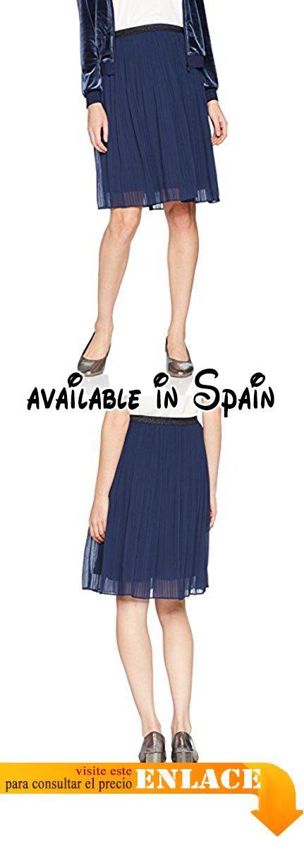 B072C8L1WF : Sandwich Skirt Woven Casual Medium Falda para Mujer Blau (Navy 40115St) 42.