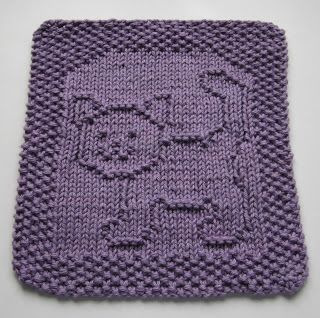 Free Knitting Pattern - Dishcloths & Washcloths : Purrfect Cat Dishcloth
