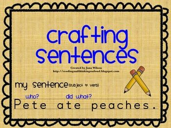 Sentences: Sentences Writing, Grade 1, Graphics Organizations, Crafts Sentences, Writing Sentences, Writing Lessons, First Grade, Writing Complete Sentences, 1St Grade