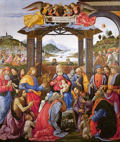 Domenico di Ghirlandaio, Adoration of the Magi for the Ospedale degli Innocenti (1488)