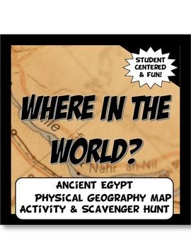 This geography activity is completely student driven, fun and interactive. It can be done with any textbook map or atlas that has the Ancient Egypt and the Nile River Valley and general area physical geography. First, students create a physical map of Egypt labeling key features.