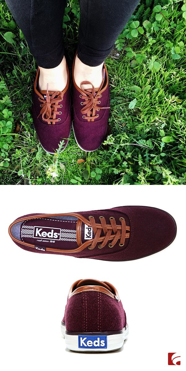 Change up your look with Keds' Champion Wool Sneaker, which is the perfect balance of casual and comfort. This colorful shoe features a low-top style with contrasting laces, as well as a soft, breathable lining with a cushioning insole for all-day wear.