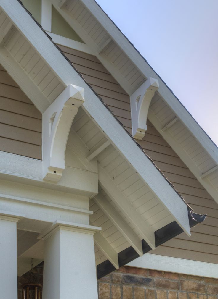 Brackets Exposed Rafter Tails and Half Round Gutters Craftsman Details  New Bungalow at the