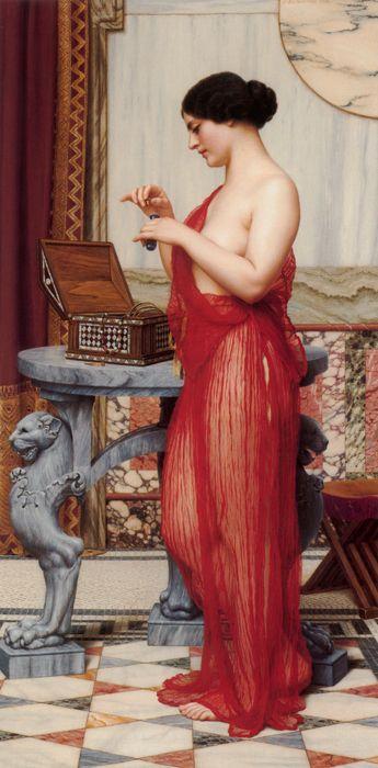 Бесплатная доставка классическая Годвард ню сексуальные женщины живопись маслом отпечатки на холсте, напечатанные на холсте украшения фотографии