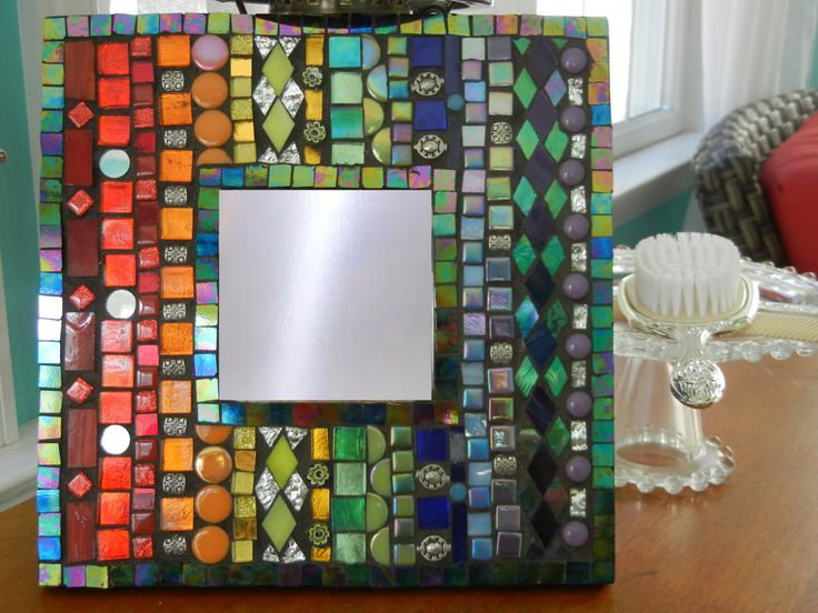 A personal favorite from my Etsy shop https://www.etsy.com/listing/470238032/one-of-a-kind-rainbow-mosaic-mirror
