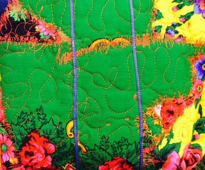 Romani Unique green pattern 2015 gypsy roma style rose fashion textile rose inspiration
