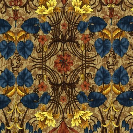 Robert Kaufman Fabrics: EY-4821-5 ANTIQUE from Jardin Nouveau