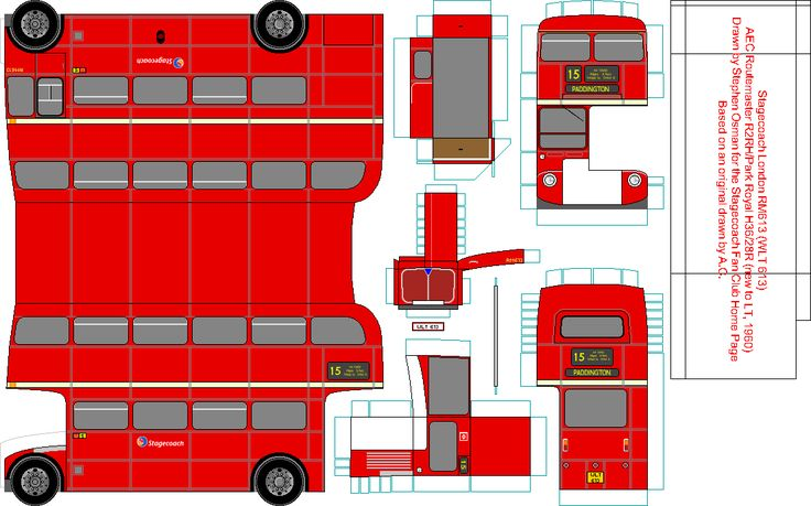 Iconic London Double Decker Bus Paper Model