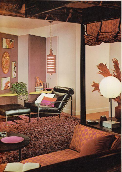 1964 living room design via Tumblr | Mid-Century | Modern ...