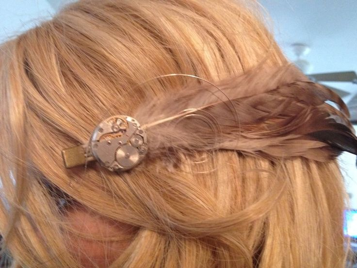 feathered hair styles steampunk movement feather hair clip niel wolf 3003