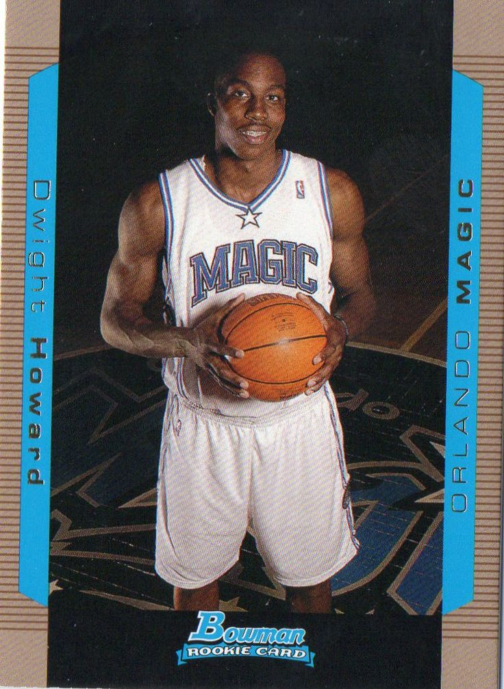 2004-05 Bowman Dwight Howard GOLD Border Rookie Card Orlando Magic