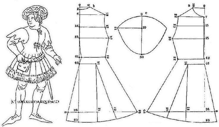 Исторические костюмы кройка