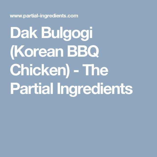 25+ best ideas about Korean bbq chicken on Pinterest ...