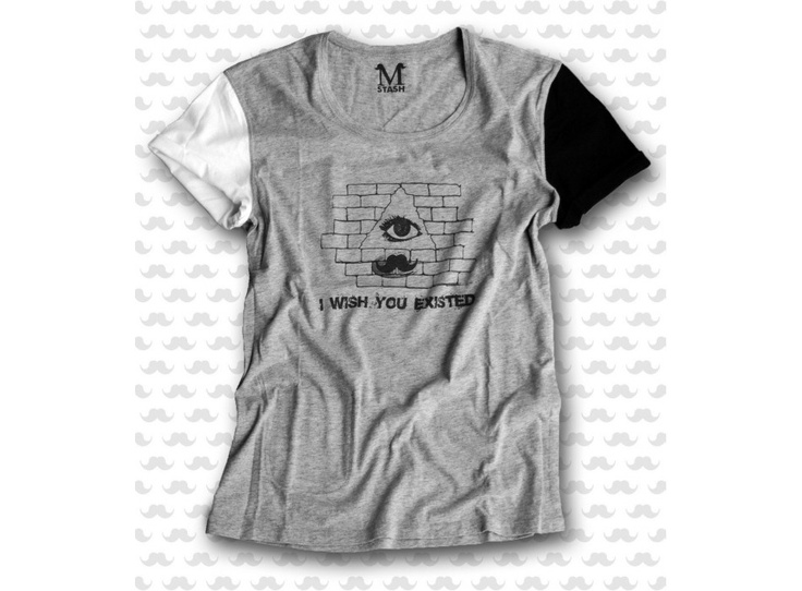 M-STASH // WYE - Wish You Existed (outside) // 100% cotton reversible tee