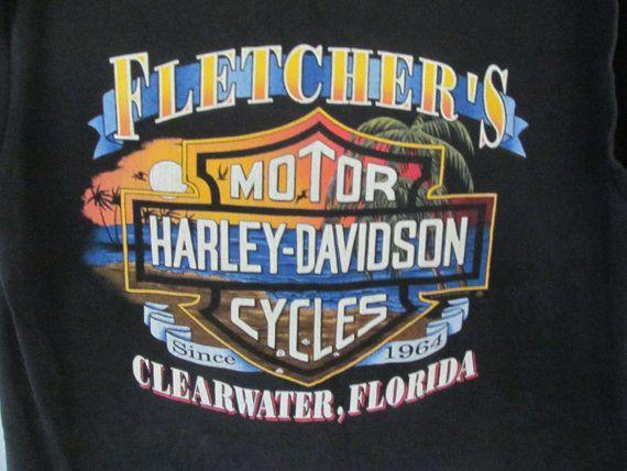 Grunge Gater Biker Vintage Harley Davidson Motorcycle Shirt Biker Clothes Harley Dealer T Shirt Harley Daytona FL T Shirt   ReVintageBoutique.Etsy.com