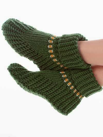 slipper boots a free crochet pattern