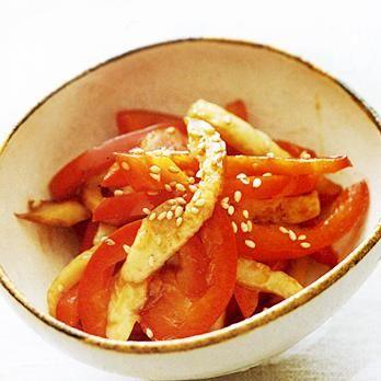 カラーピーマンとちくわのきんぴら | 舘野鏡子さんのきんぴらの料理レシピ | プロの簡単料理レシピはレタスクラブニュース