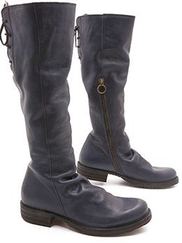 Blue boot of badass-ness, the Fiorentini + Baker Emma Boot  instantly make you a femme fatale! xo, Ped Shoes. (And we do mean XO!)