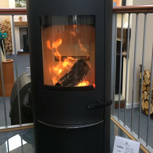 Now that's what you call a clean burn!  Logalog kiln-dried hardwood logs on a Lotus Liva 5 stove at AJ Woodstoves Stafford.