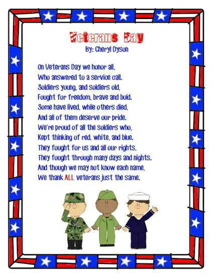 Veterans Day Preschool Lesson Plan