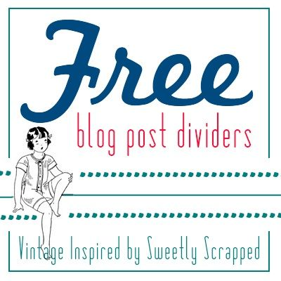 Free Blog / Post Dividers -  from Sweetly Scrapped