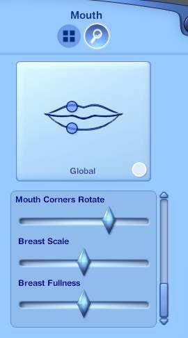Mod The Sims - Create-a-Sim: Adjustable Female Breast sliders   the