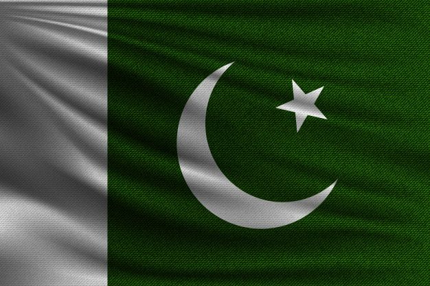 The National Flag Of Pakistan National Flag Pakistan Flag Flags Of The World
