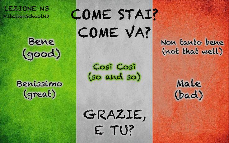 Italian lesson: come stai? How are you?