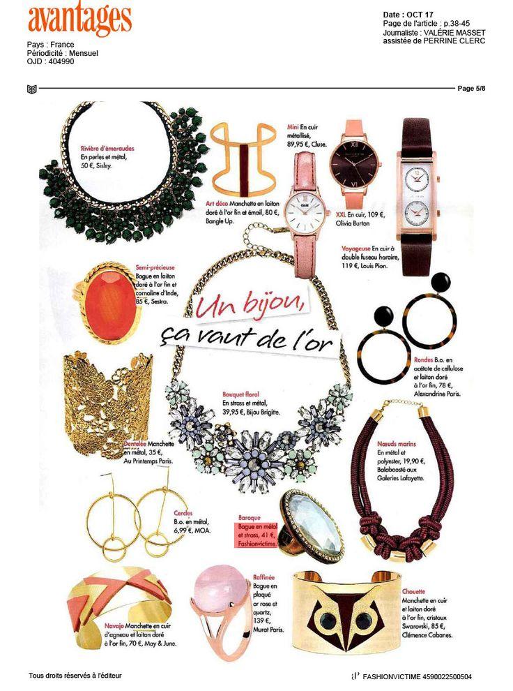 Fashionvictime est dans le magazine #Avantages #Fashionvictime #bague de septembre #joaillerie #beauty #mode #bijoux #fashionvictime