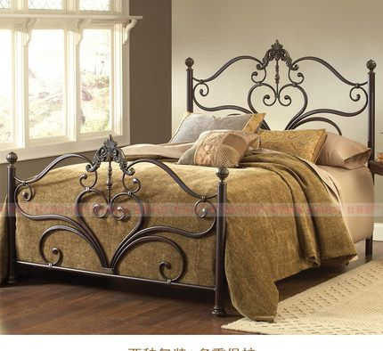 brass bed bed rooms metallic decor iron blacksmithing decorating ideas molde wrought iron welding - Metallic Canopy Decorating